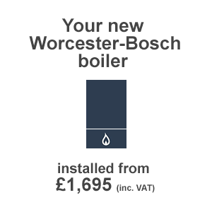 DMA Property Worcester-Bosch boiler installed
